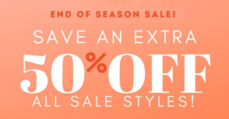 End of Season Sale: Save an Extra 50% Off All Sale Styles from Charming Charlie