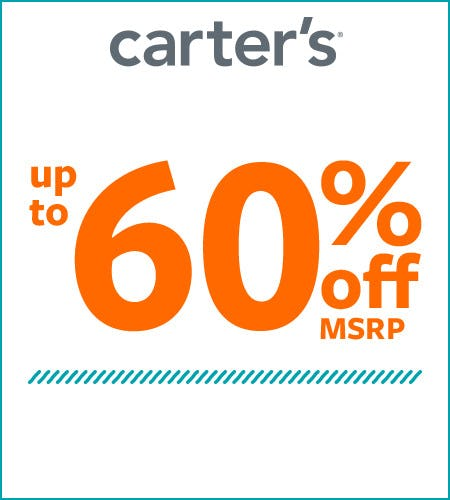 Up to 60% Off* from Carter's
