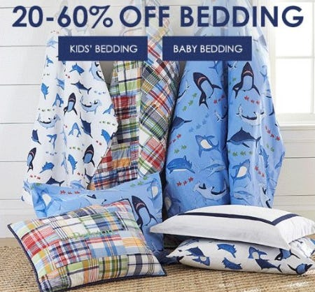 20–60% Off Bedding from Pottery Barn Kids