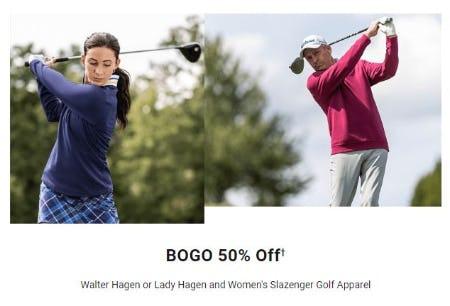 BOGO 50% Off Walter Hagen or Lady Hagen and Women's Slazenger Golf Apparel from Dick's Sporting Goods