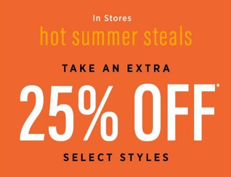 Extra 25% Off Select Styles from Saks Fifth Avenue OFF 5TH