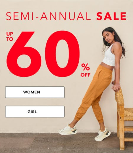 Semi Annual Sale: Up to 60% Off from Athleta