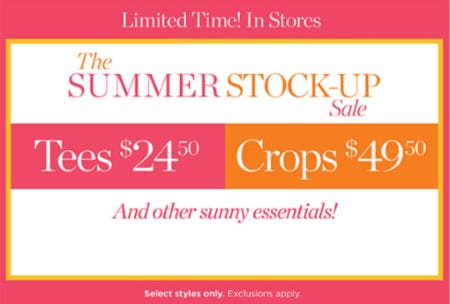 The Summer Stock-Up Sale