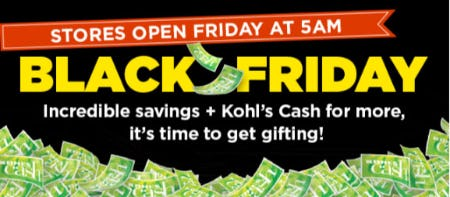 Black Friday Sale from Kohl's