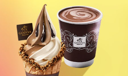 Buy 1, Get 1 50% Off Soft Serve & Hot Chocolate from Godiva Chocolatier