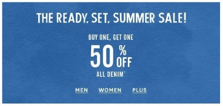 BOGO 50% Off All Denim from Lucky Brand Jeans