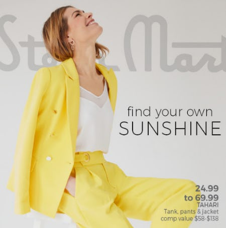 Go Bold in Yellow from Stein Mart