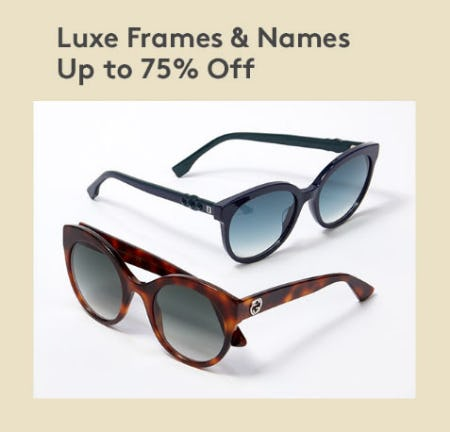 Up to 75% Off Luxe Frames & Names from Nordstrom Rack