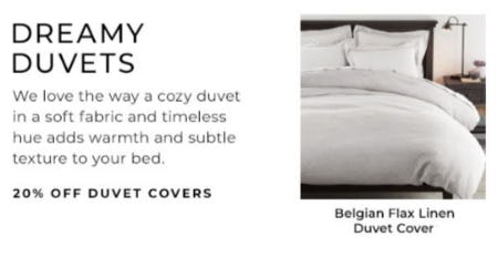 20% Off Duvet Covers from Pottery Barn