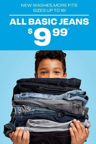 All Basic Jeans $9.99 from The Children's Place