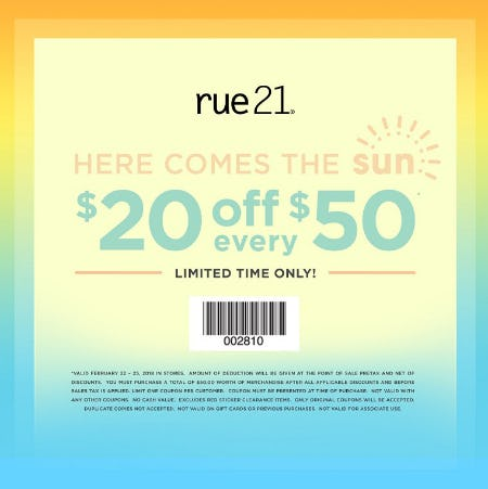 Weekend Coupon from rue21