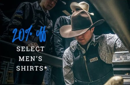 20% Off Select Men's Shirts