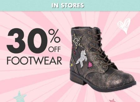 30% Off Footwear
