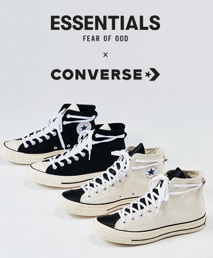 The New FOG x Converse Shoes are Here