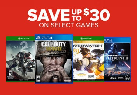 Up to $30 Off Select Games