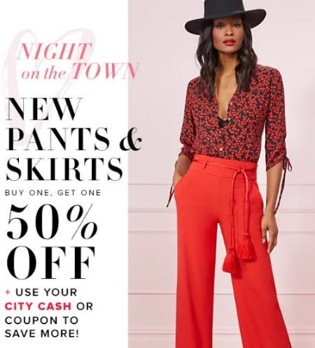 New Pants & Skirts Buy One, Get One 50% Off from New York & Company