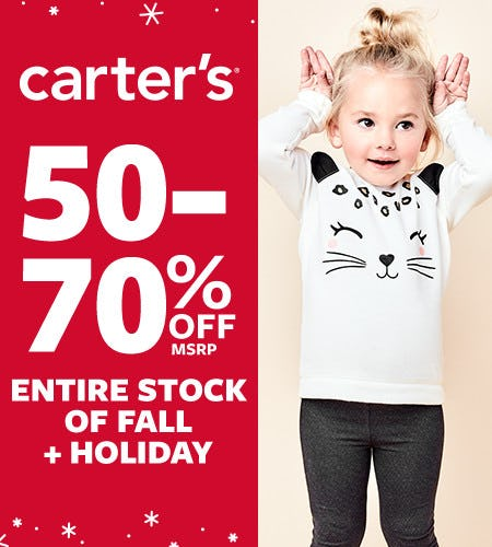 50-70% Off* from Carter's
