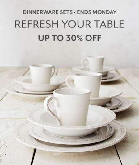 Up to 30% Off Dinnerware Sets from Sur La Table