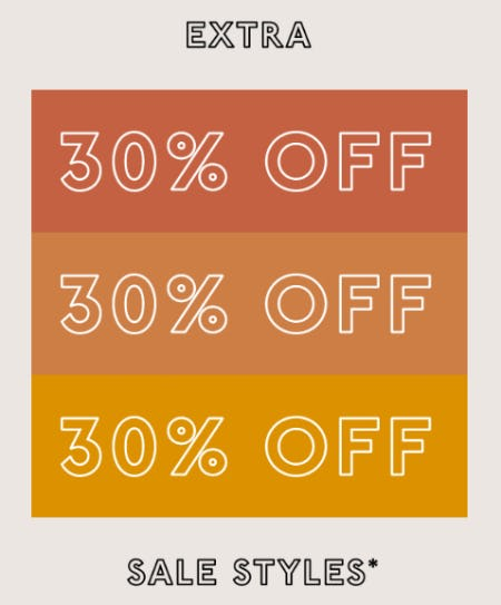 Extra 30% Off Sale Styles