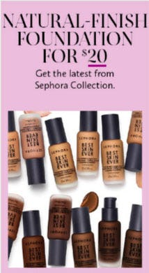 Natural-Finish Foundation for $20