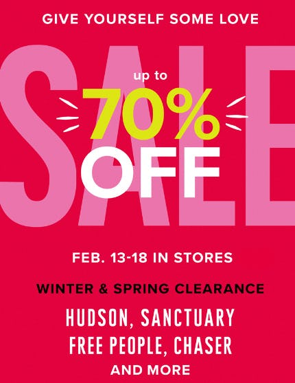 Up to 70% Off Winter & Spring Clearance Sale from Evereve