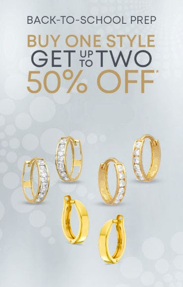 Buy One, Get Up To Two 50% Off from Piercing Pagoda