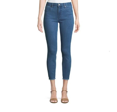 Parker Smith Ava Appliqué Repair Skinny Ankle Jeans from Neiman Marcus