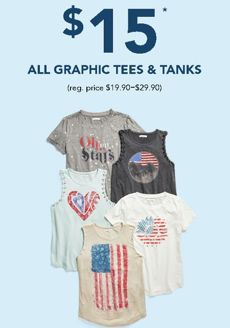 $15 All Graphic Tees and Tanks