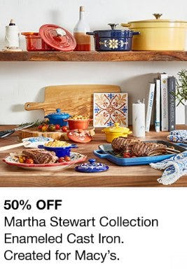 50% Off Martha Stewart Collection Enameled Cast Iron from macy's