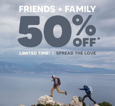 50% Off Friends & Family Event from Eddie Bauer
