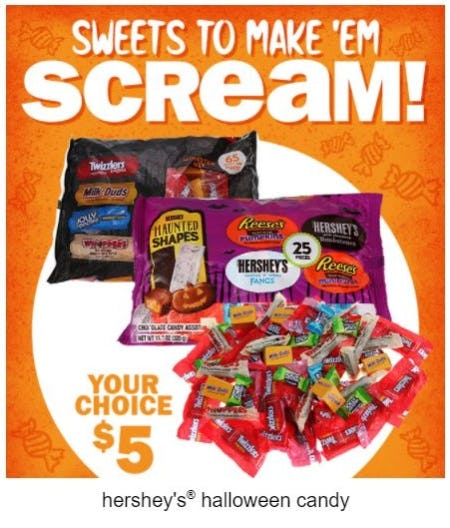 Hershey's® Halloween Candy of your Choice for $5 from Five Below