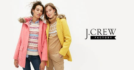 UP TO 70% OFF STOREWIDE! from J. Crew Factory