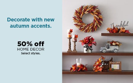 50% Off Home Decor from Kohl's