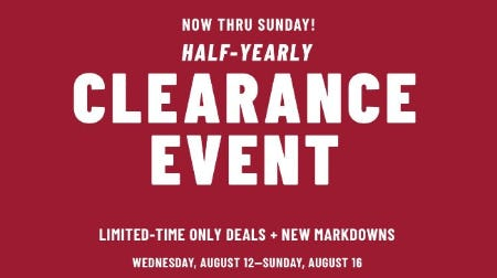 Half-Yearly Clearance Event from Jos. A. Bank