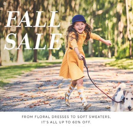 Up to 60% Off Fall Sale from Janie and Jack