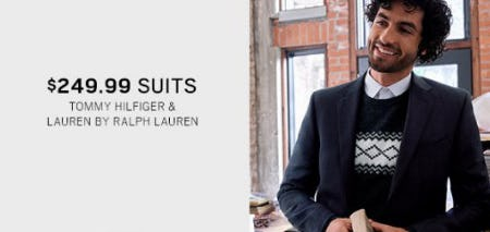 $249.99 Suits from Men's Wearhouse