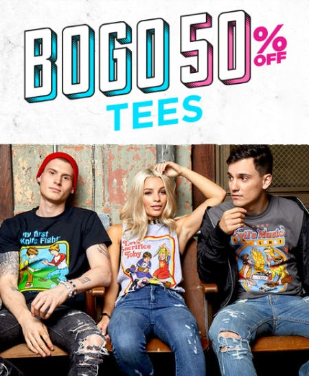BOGO 50% Off Tees