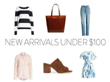 Shop New Arrivals Under $100