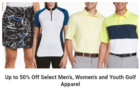 Up to 50% Off Select Men's, Women's and Youth Golf Apparel from Golf Galaxy
