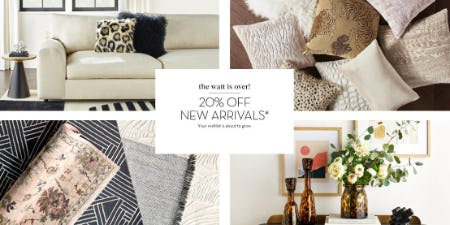 20% Off New Arrivals from Z Gallerie
