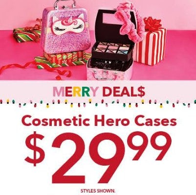 Merry Deals, Cosmetic Cases Available at Claire's!