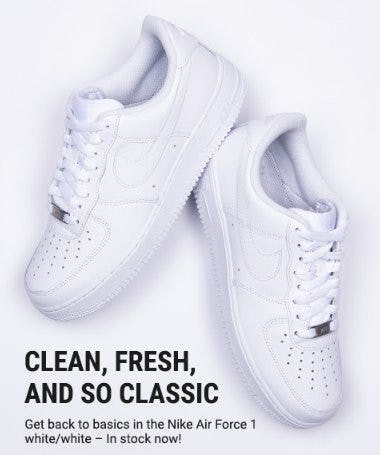 Clean, Fresh, and so Classic from Footaction
