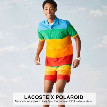 The Popular Lacoste X Polaroid Collaboration from Lacoste