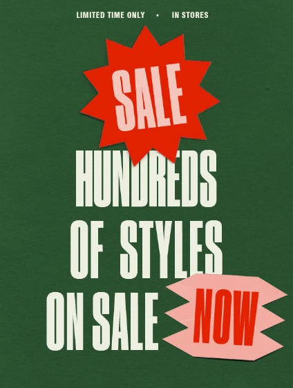 Hundreds of Styles on Sale from Urban Outfitters