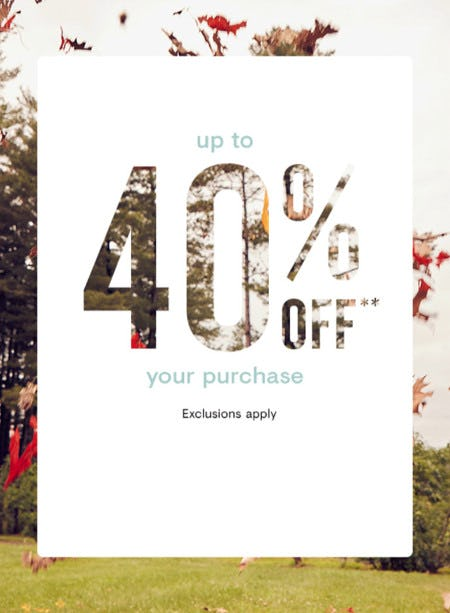Up to 40% Off Your Purchase from Loft
