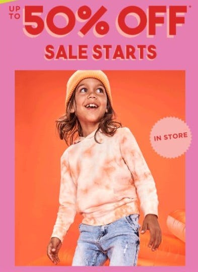 Up to 50% Off Sale from Cotton On Kids