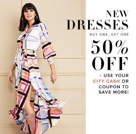 New Dresses Buy One, Get One 50% Off