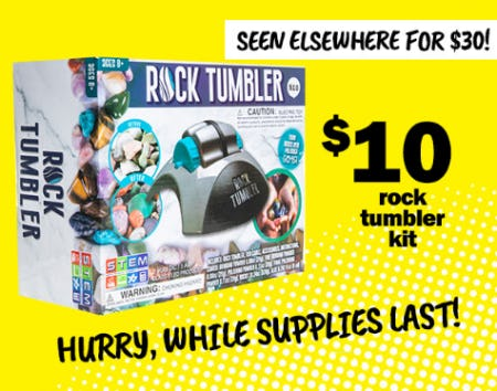 $10 Rock Tumbler Kit from Five Below