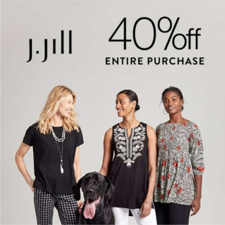 40% off Entire Purchase from J.Jill