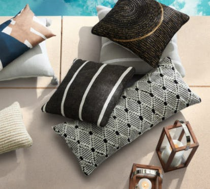 Pillows for Your Summer Lounging from West Elm